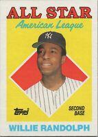 Willie Randolph All Star AL 1988 Topps Baseball Card #387 New York Yankees