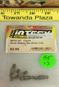 Silver Battery Bar (5) for 1/18 C22375 Integy Orignal NewOldStock🇺🇸USA Shipped