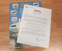 Authentic Model Trains World Of Stamps Collectible Series Sheet With COA *READ*