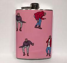 Drake HotLine Bling Flask 8oz Stainless Steel Hip Drinking Games Pink Big CallMe