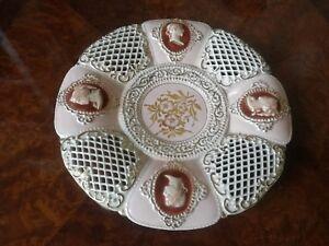B M C Barraud Mai & C 1930 Ceramics Deco Dish Cameo Centerpieces Florence