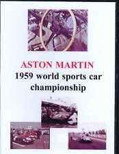 ASTON MARTIN 1959 WORLD SPORTS CAR CHAMPIONSHIP NTSC DVD. NEVILLE HAY. 47 Mins.