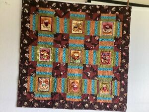 Coffee Themed Hand Crafted Lap Quilt