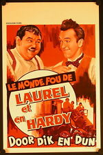 The Crazy World of Laurel and Hardy (1966) BELGIAN poster