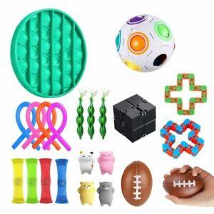 22Pcs Fidget Toys Set Sensory Tools Bundle Stress Relief Hand Kids Adults Toy UK