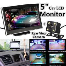 "5"" TFT LCD RearView Monitor + Car Backup Camera Rear View System Night Vision"