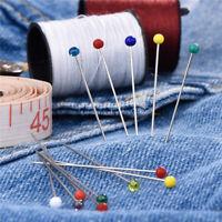 con cabeza de vidrio Locating pin Agujas de coser Cabeza de Cristal Murano