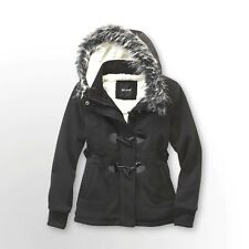 NWT - ME JANE Girl's FAUX FUR Black TOGGLE FLEECE   -   M (10/12)