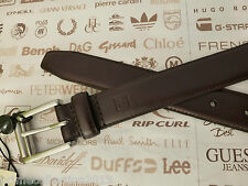 RALPH LAUREN Leather Belt Brown SMOOTH FES Slim Smart Trouser Belts BNWT RRP£65