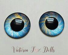 Blythe Doll Dark Navy Blue Gold Metallic Eyechips Eye Chips 14mm