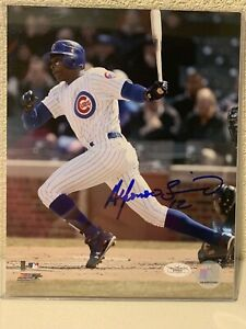 Alfonso Soriano Signed Chicago Cubs 8x10 Photo JSA