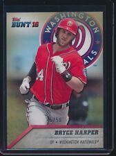 2016 Topps Bunt Topaz Parallel #25 Bryce Harper Washington Nationals 45/50