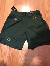 Nike NFL Green Bay Packers Knit Football Shorts  Dri-FIT Fly Size S BNwT 2018