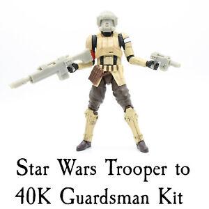 Star Wars Custom Warhammer 40K Imperial Guard IG 40K Lasgun Helmet Pistol Kit
