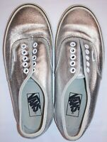 Vans Off the Wall Sneaker Mens 6.5 Womens 8 Silver Leather Metallic Skate