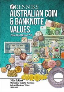 NEW Renniks Australian Coin & Banknote Values 30th Edition By Michael T. Pitt