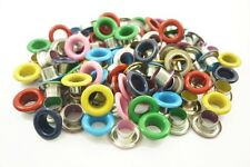 100pcs Mixed Colors Round EYELET Scrapbooking CARD Hole LeatherCraft E097