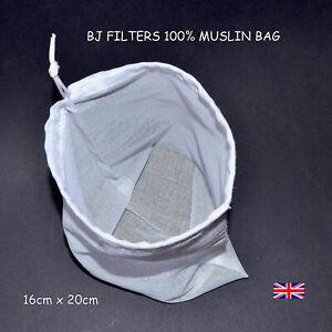 HOME BREWING MASHING 100% MUSLIN MESH CORDED BAG: 16CM X 20CM £3.99 2,000+ SOLD