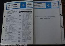 Telefunken Service Information opus hifi 6060 + Ergänzung Service Manual
