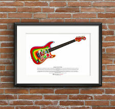 George Harrison's Fender Stratocaster Rocky ART POSTER A3 size