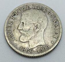 1906 ROMANIA SILVER LEU COIN