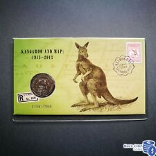 2013 50c UNC MELBOURNE STAMP EXPO KANGAROO AND MAP OVERPRINT PNC DAY 2