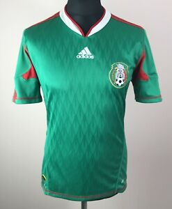 Mexico 2010/2011 ADIDAS Home World Cup Jersey Men's Size S Camiseta Green Shirt