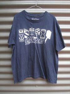 Marvel Avengers Blue With White Motif T Shirt Label Size Large