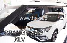 Wind deflectors SSANGYONG XLV 5-doors 2016-onwards 4-pc HEKO Tinted