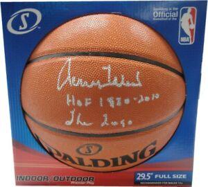 Jerry West Hand Signed Autographed Basketball LA Lakers The Logo HOF 1980 JSA WP