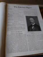 The Literary Digest Volume 29 July - Dec 1904. Bound magazine