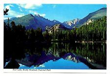 Bear Lake Rocky Mountain National Park Postcard Colorado Reflection Trees