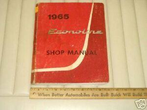 1965 FORD ECONOLINE VAN Factory Shop Manual ORIGINAL