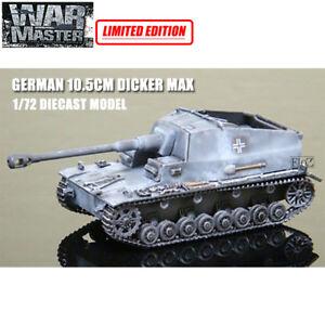 GERMAN 10.5CM DICKER MAX 1/72 DIECAST MODEL FINISHED TANK WAR MASTER