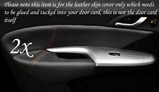 Puntadas de hilo naranja encaja Honda Civic 06-12 2x Frontal Puerta Tarjeta Ribete Cuero cubre sólo