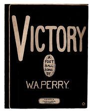 Victory A Football Song 1906 Yale Football Sheet Music