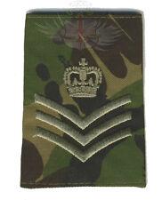 BRITISH ARMY SURPLUS ISSUE STAFF SERGEANT WOODLAND DPM RANK SLIDE,SGT,UNIFORM