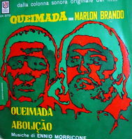 """OST QUEIMADA   7""""  ITALY  1969   ENNIO MORRICONE-  MARLON BRANDO"""
