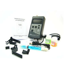 PH Controller Monitor w/Probe Electrode BNC Aquarium  Adapter Buffer Fish Tank