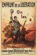 FIRMIN BOUISSET (1859-1925). ON LES A / EMPRUNT DE LA LIBÉRATION. Circ... Lot 96