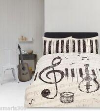 Maestro Music Notes Duvet Doona Quilt Cover Set | Guitar | Drums | Piano | Queen