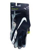 NEW Nike Vapor Jet Unisex Football Gloves  Magnagrip  Black/Gray  Size Large, 07