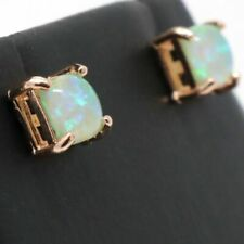 Antique Green Opal Earrings Women Nickel Free Jewelry Gift 14K Rose Gold Plated