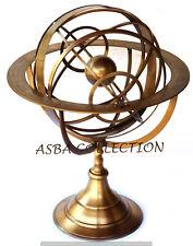 """18"""" Brass Armillary Sphere Messing Armillarsphäre Globen Nautische Astrolabium"""