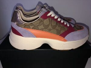 NEW coach Sneakers US 8,5B Multicolor