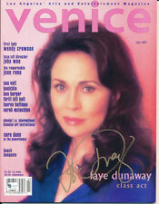 FAYE DUNAWAY Signed July 1997 Venice Magazine GA also has Wendy Crewson John Woo