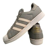 Adidas Superstar Men's Sports Shoes Size Uk 9 Grey Casual Trainers EUR 43.5
