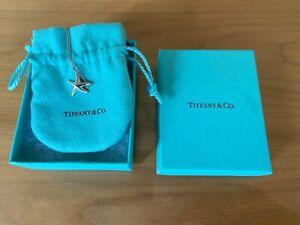 Tiffany & Co. Diamond Silver Elsa Peretti 12mm Starfish Pendant Necklace RRP£570