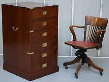RRP £4999 KENNEDY HARRODS LONDON CAMPAIGN THREE LARGE DRAWER FILING CABINET