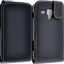 FOR SAMSUNG GALAXY S DUOS S7580 S7582 TREND PLUS LEATHER CASE COVER FLIP POUCH